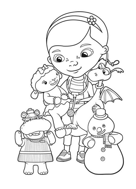 Doc Mcstuffins Coloring Pages Disney Junior by Free Printable Doc Mcstuffins Colouring Pages From Disney