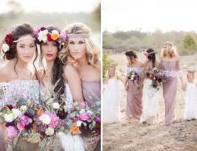 Rustic Bohemian Wedding Ideas Lilac Boho Lace Bridesmaid