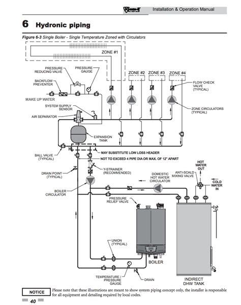 piping diagrams generous lochinvar boiler piping diagram ideas