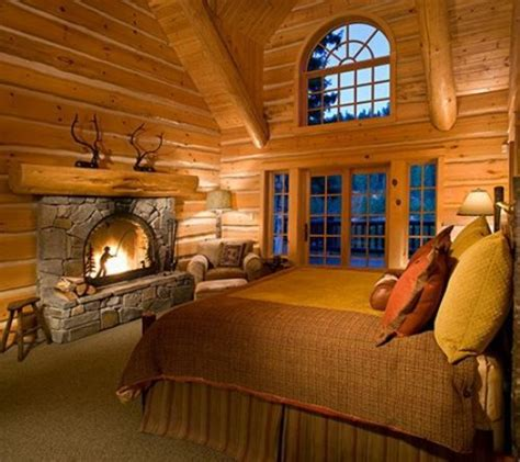 hotel with log fire in bedroom bedroom fireplace log home living pinterest