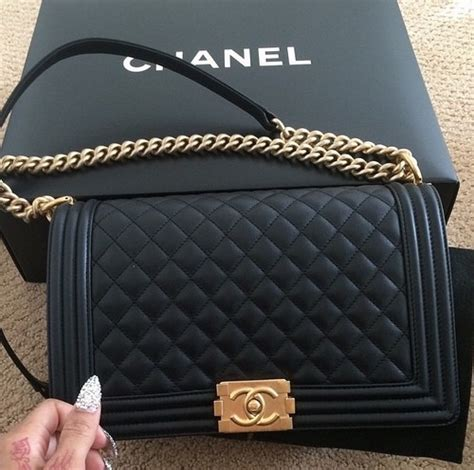 Clutch Handbag Chanel Leboy chic style chanel black black leather and bag