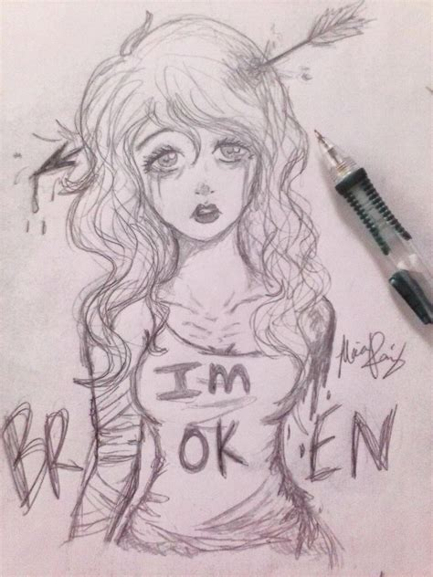 I M Drawing In by I M Broken By Marjieart On Deviantart