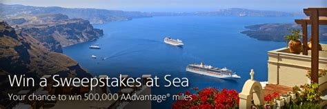 Free Cruise Giveaway - win 500k miles and a free cruise from american airlines