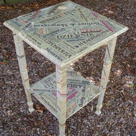 Decoupage Newspaper - decoupage newspaper furniture ideias para reforma