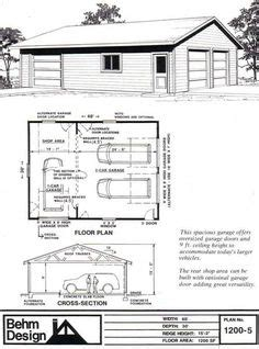 Carport Plans 1040 by Two Car Garage With Shop Plan 1040 2r 40 X 26 By Behm