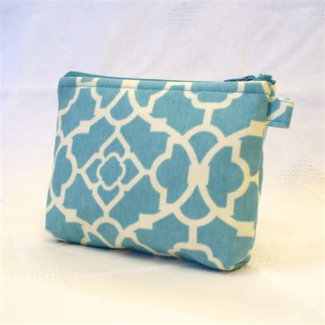 zippered fabric pouch pattern fabric gadget pouch lattice pattern cosmetic bag zipper pouch
