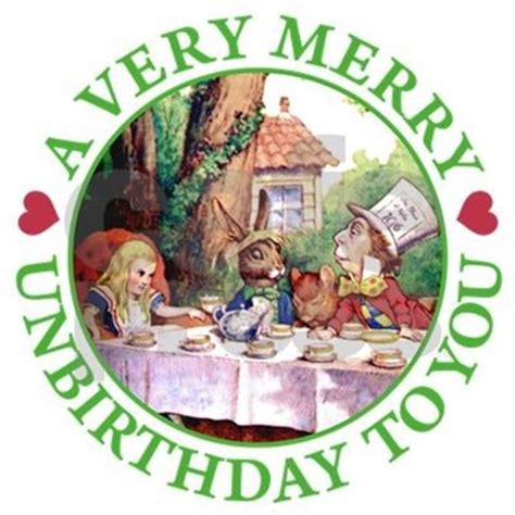 Alice In Wonderland Wall Stickers a very merry unbirthday greeting cards pk of 10 by