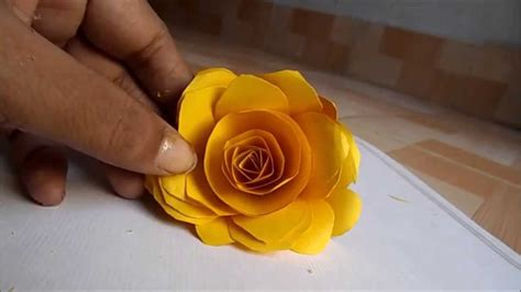 How To Make Paper Roses At Home - how to a make paper at home step by step easily 2014