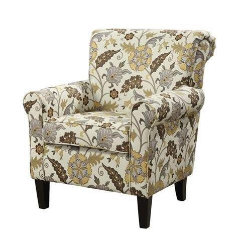 pattern fabric club chair coaster fabric club arm chair in brown flower pattern 902082
