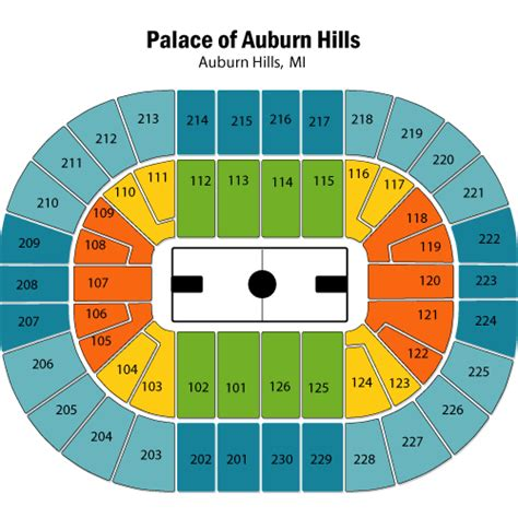 detroit pistons seating plan seating chart for pistons palace of auburn