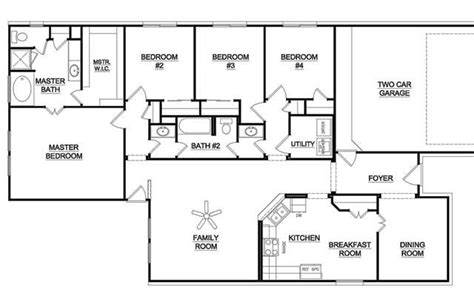 5 bedroom one story house plans one story 5 bedroom house plans 11 the is more than regarding one story 4 bedroom