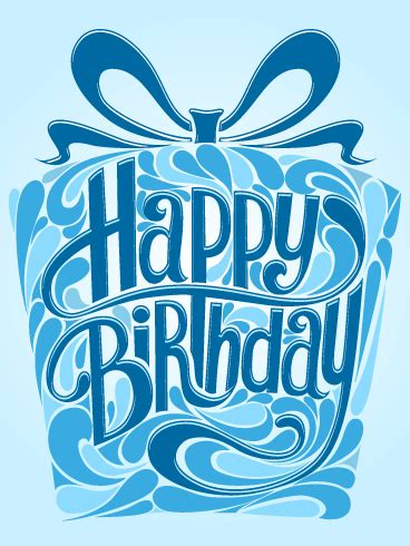 blue gift box happy birthday card do you have a special
