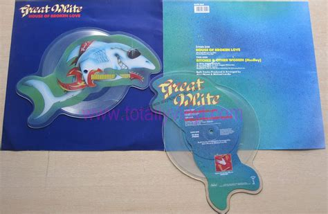 great white house of broken love totally vinyl records great white house of broken love 7 inch picture disc shaped