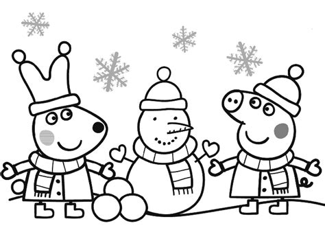 christmas colouring pages peppa pig dibujos de peppa pig para imprimir y colorear 161 gratis 174