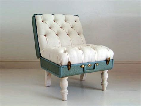 recycle couch recycled suitcase chair perfect for globe trotting couch