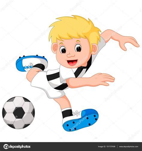 imagenes niños jugando futbol dibujos animados de ni 241 o jugando al f 250 tbol archivo