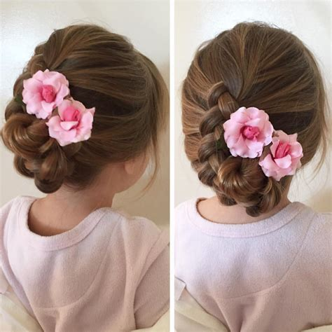 soft draid hairstyles soft braided flower girl hairstyle wedding pinterest