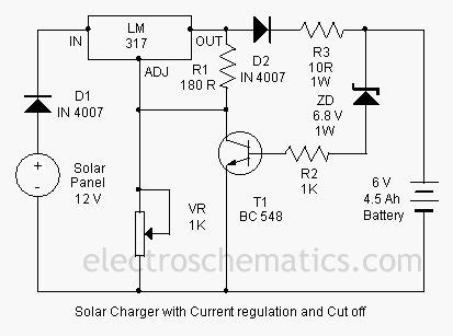 lm317 battery charger circuit diagram solar charger circuit by lm317 free electronic circuit