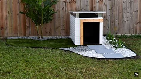 modern dog house glen builds diy modern dog house with perfect landscaping