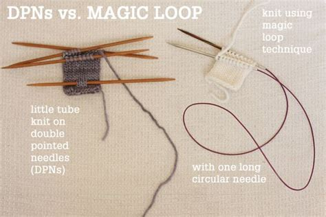 magic circle knitting magic loop technique how to knit in the using a