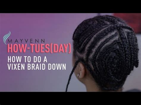 how to do a vixen sew in when you have no edges easy braid pattern for a vixen sew in youtube