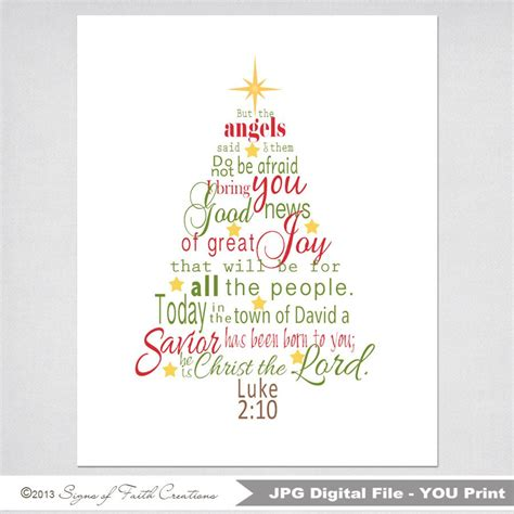 tree printable scripture with luke 2 bible verse