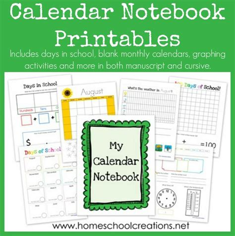 printable planner notebook 1000 images about days of the week calendar printables
