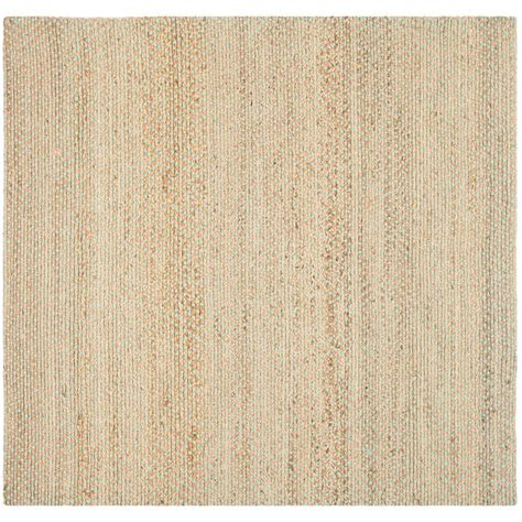 Square Area Rugs Safavieh Fiber Beige Green 8 Ft X 8 Ft Square Area Rug Nf453a 8sq The Home Depot