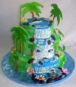 bizcocho decorado hawaiano especial de tortas con tem 225 tica hawaiana fiesta101