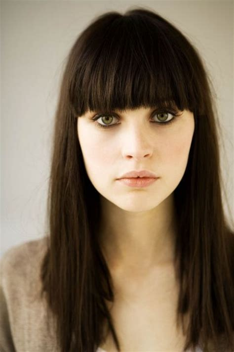 hairstyles for across bangs 17 best ideas about thick bangs on pinterest long hair
