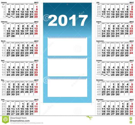 Calendario Trimestral 2017 Calend 225 De Parede Trimestral Para 2017 Ilustra 231 227 O Do