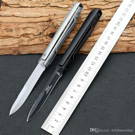 titanium 440 steel ckat titanium coating 440c steel blade folding knife multi