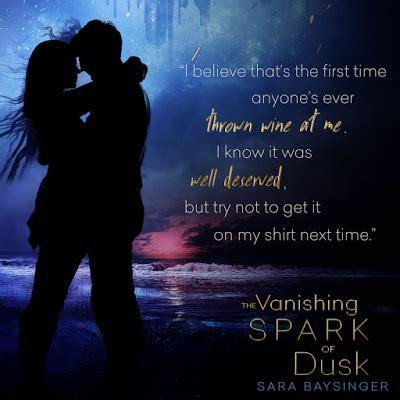 the vanishing spark of dusk books the vanishing spark of dusk by baysinger