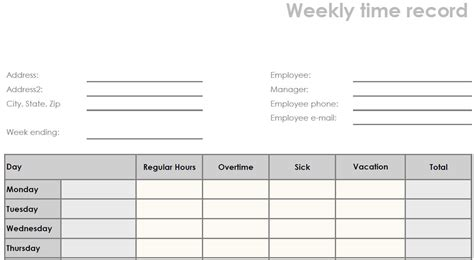 blank time sheets printable printable blank weekly pdf time sheet form