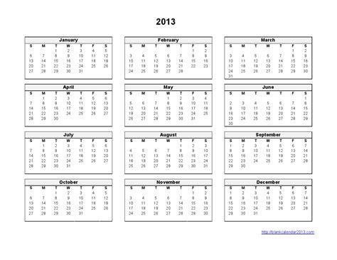 printable calendar black and white 2013 calendar printable templates 2013 calendar desktop