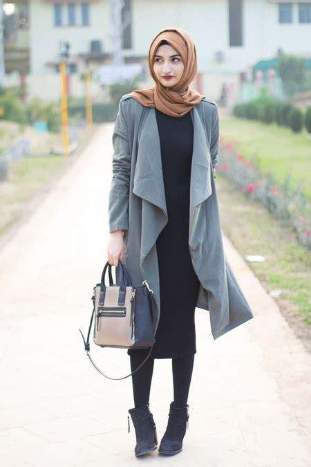 Jaket Outer Denim Jacket Wanita Kekinian Unik Model Gaya Terbaru dress dan sepatu boot bikin kamu tambah modis ide