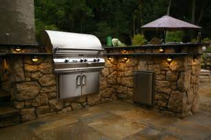 Bbq Island Lighting Ideas Triyae Backyard Kitchen Kits Various Design Inspiration For Backyard