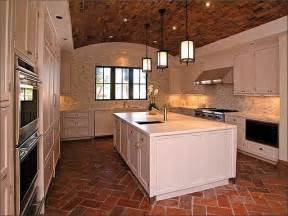 attractive How To Replace Kitchen Tile Floor #1: brick%2Bfloors%2Bhomebunch.jpg