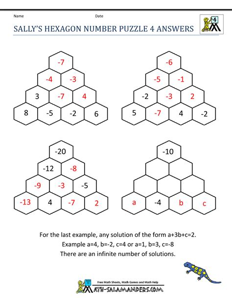Free Math Worksheets For High School With Answers by Free Math Puzzles 4th Grade
