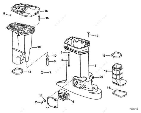 Johnson 1999 115 J115pxeem Exhaust Housing Parts Catalog