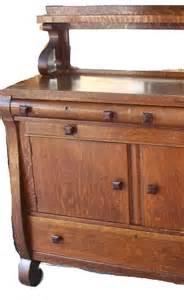 vintage buffet ideas antique tiger oak sideboard buffet mirror shelf by