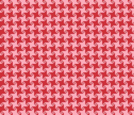 large scale houndstooth upholstery fabric lustro ultra red pink geometric oversize large