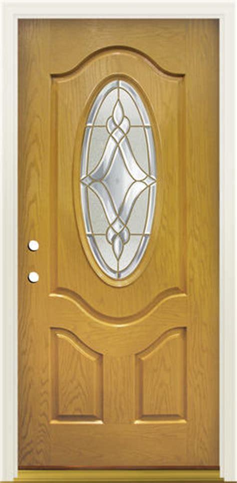 Mastercraft Exterior Doors Mastercraft Lu 930 3 4 Oval Prefinished Fiberglass Prehung Ext Door At Menards 174