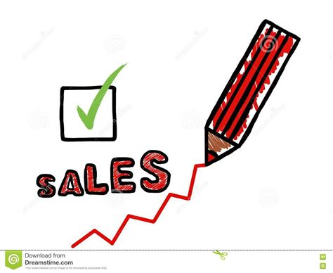 drawing for sale drawing of a sales increase cartoon vector cartoondealer