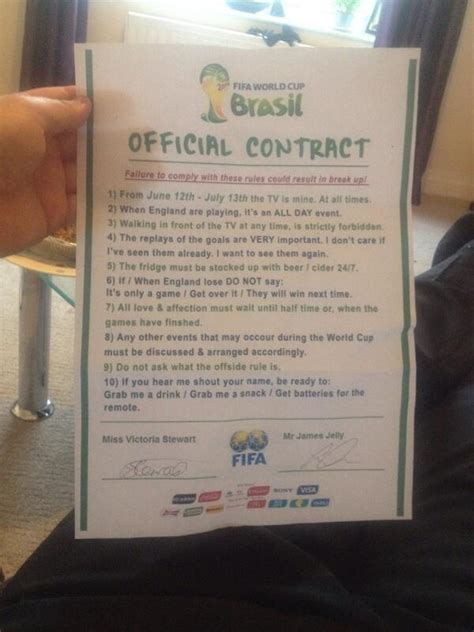 guy   girlfriend  sign  world cup contract