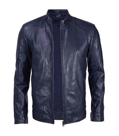 Handmade Jacket - handmade blue leather jacket blue leather jacket