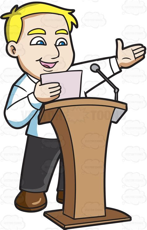 speech clipart a saying his speech in front of a crowd clipart by