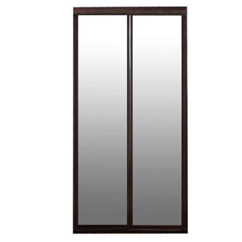 Mirror Sliding Closet Doors Home Depot by Contractors Wardrobe Majestic 84 In X 81 In Cherry