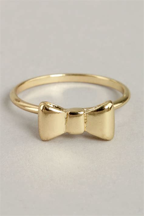 gold ring knuckle ring bow ring 11 00