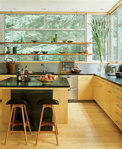 whats hot   kitchen shelves built  front